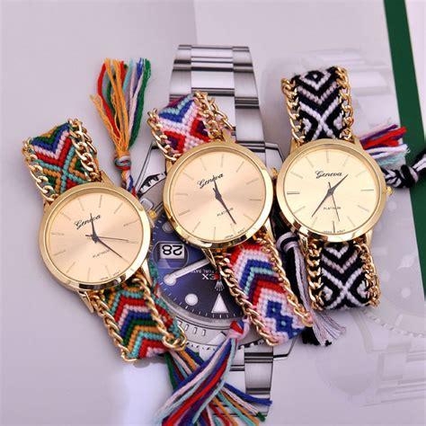 Jam Tangan Cewek Geneva jual jam tangan cewek geneva rajut modjo jaya