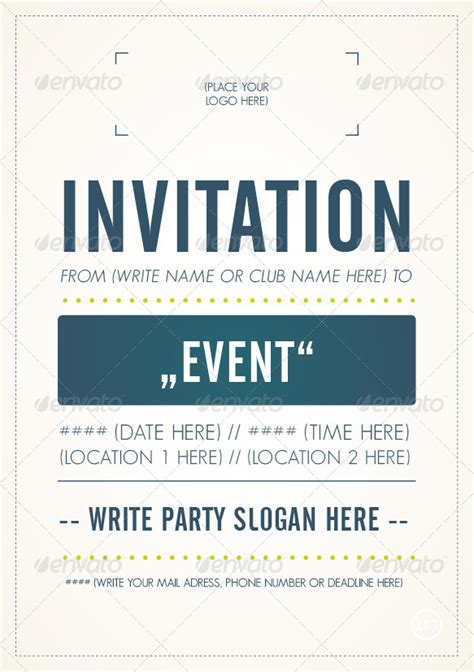 invitation flyers templates free invitation flyer template by m103 graphicriver