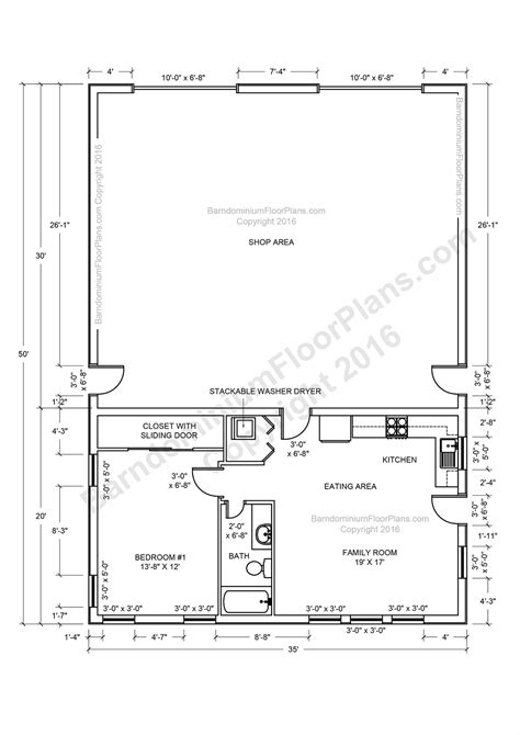 shop apartment floor plan extraordinary barndominium plans