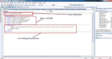 Membuat Database Vb Dengan Access | membuat koneksi vb net dengan database microsoft access