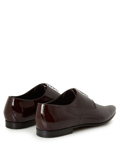 burberry shoes lyst burberry prorsum patent leather derby shoes in