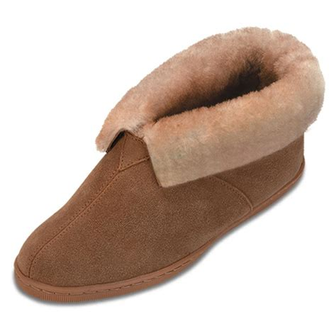 womens ankle slippers s minnetonka moccasins 174 sheepskin ankle boots