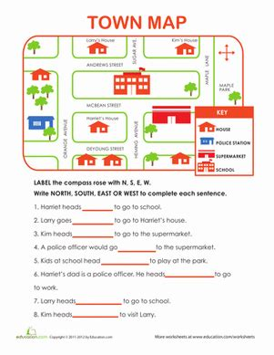 directions exercises printable learning directions worksheet education com