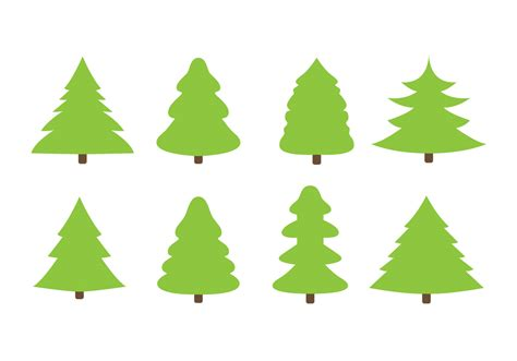 free flat christmas trees vector download free vector