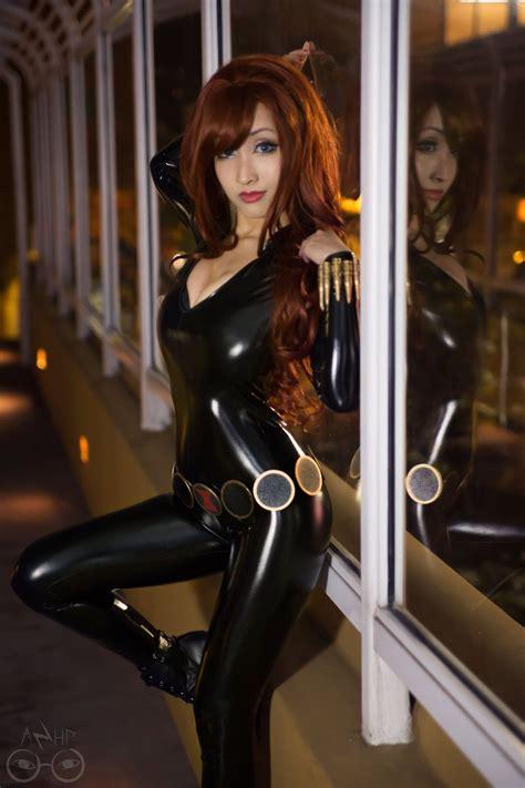 latex costume tutorial marvel comics black widow cosplay by azhp on deviantart
