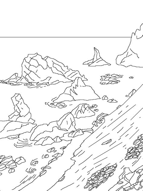 antarctica free colouring pages