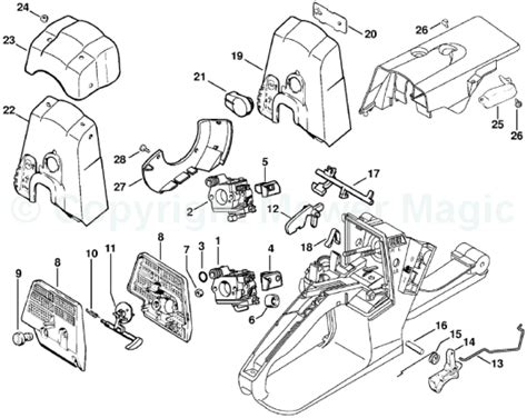 stihl ms 440 parts diagram stihl ms240 spares