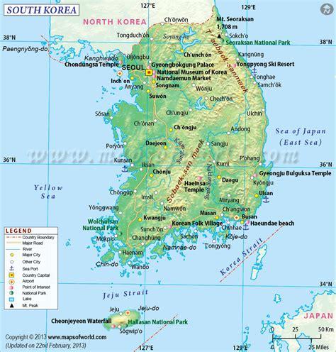 korean map south korea map map of south korea