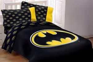 Home products batman emblem 4 piece reversible soft twin size