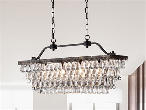 Rectangular Light Fixtures Ikraam Rectangular Pendant Light Fixture