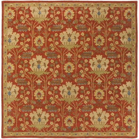 Square Area Rugs 9 X 9 Artistic Weavers Maximian Burgundy 9 Ft 9 In X 9 Ft 9 In Square Indoor Area Rug S00151007866