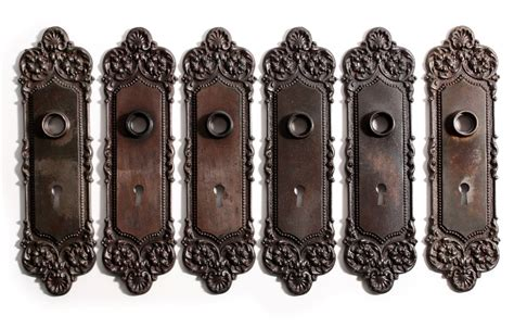 three complete antique door hardware sets monaco by
