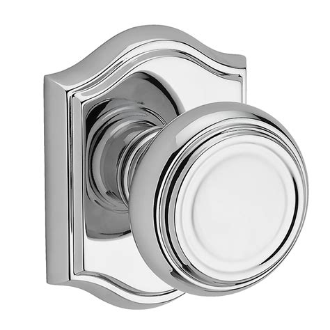 Polished Chrome Door Knob by Shop Baldwin Reserve Traditional Polished Chrome Dummy