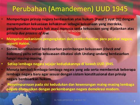 Problematika Dan Solusi Amandemen Uud 1945 implementasi pancasila uud nri th 1945 dan sistem ketatanegaraan p
