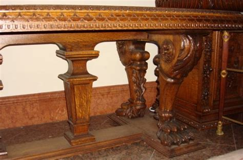 Antique Oak Dining Table And Chairs Dining Table Antique Carved Dining Table