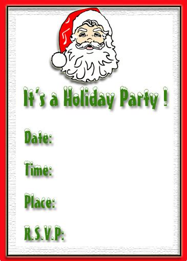 printable christmas invitation cards free christmas invitation cards free merry christmas