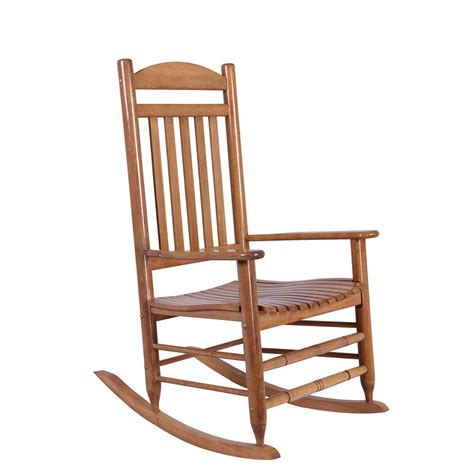rocking bench natural wood rocking chair it 130828n the home depot