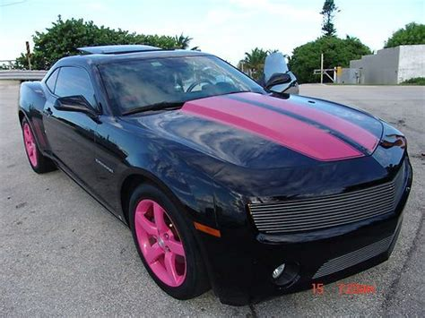 pink and black camaro sell used 2010 lt black with pink stripes pink wheels