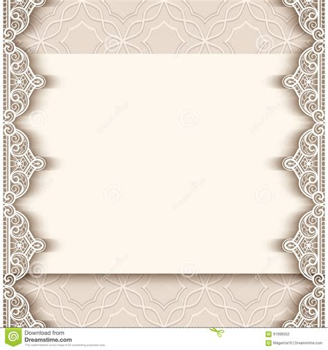 wedding announcement borders vintage paper background with lace borders stock vector