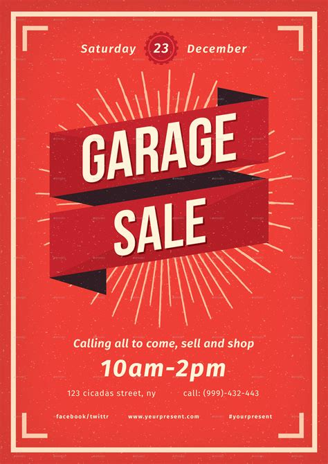 vintage garage sale flyer  lilynthesweetpea graphicriver