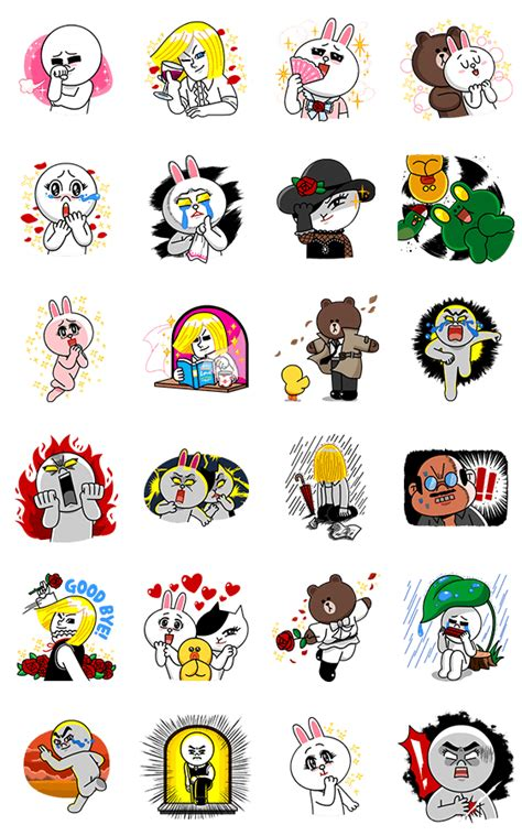 Kaos Line Line Emoticon Moon 4 画像 line characters burning emotion by line line me