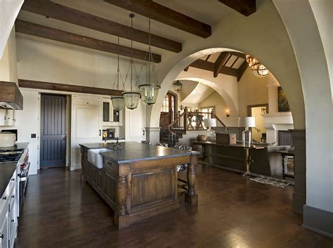 exceptional Living Room Carpet Ideas #3: Rustic-french-country-kitchen-ideas-kitchen-rustic-with-living-room-old-world.jpg