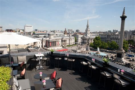 best roof top bars in london vista at the trafalgar the best rooftop bars in london