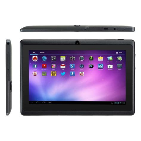 7 inch android tablet 7 quot inch android 4 4 tablet pc mid 8gb dual wifi bluetooth black pcmacs