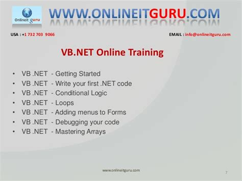 online tutorial net online vb net training vb net online training