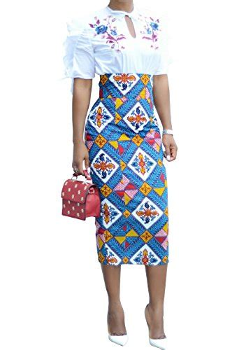 Print Midi Pencil Skirt ermonn print knee length skirt slim fit midi