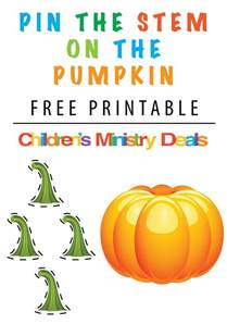 pin the stem on the pumpkin printable game children s