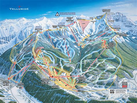 map of us ski area telluride resort skiing snowboarding colorado vacation