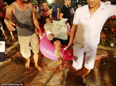 theme park explosion taiwan water park set on fire after coloured powder