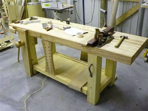 how to make a wooden work bench garage wooden work bench plans 2 spotlats