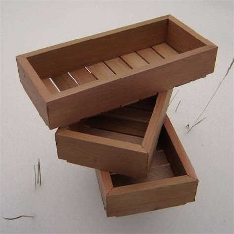 wood seed starting trays pack of three small by andrewsreclaimed