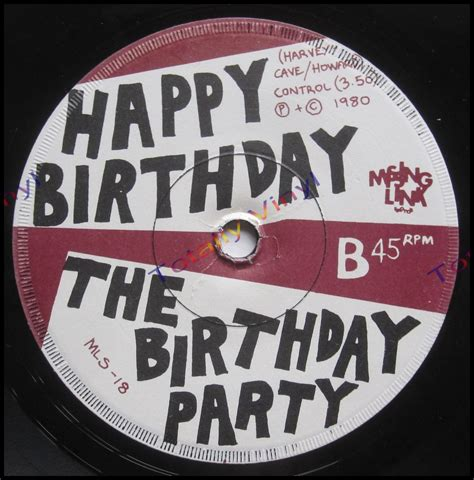 Records Birthdays Totally Vinyl Records Birthday The Mr Clarinet Happy Birthday 7 Inch