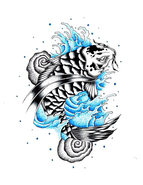 koi fish tattoo by stark sketches on deviantart