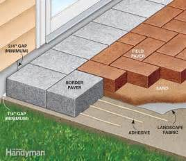 How To Patio Pavers How To Cover A Concrete Patio With Pavers The Family Handyman