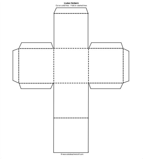 pattern for a paper cube 18 paper cube templates pdf doc free premium templates