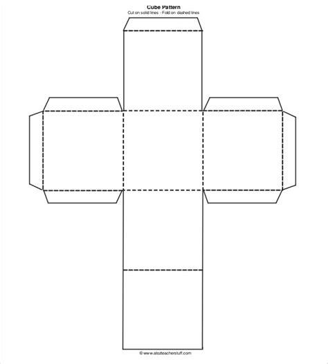 Pattern Paper Cube | 18 paper cube templates pdf doc free premium templates