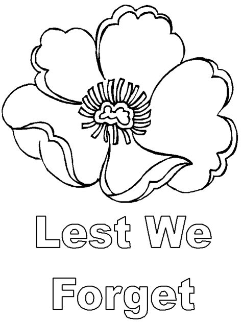 Coloring Pages For Remembrance Day | template rock painting pinterest poppy template