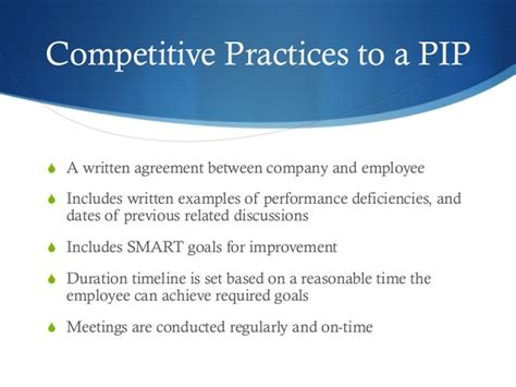 Advantage Of Ms Mba by Employee Performance Improvement Plan Pip
