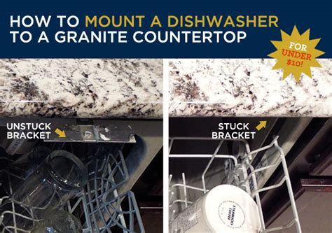 how to mount a dishwasher a granite countertop