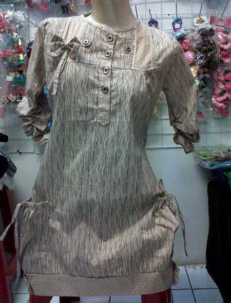 Blouse Stella Baju Atasan Jumbo Blouse Jumbo Salur Promo koleksi baju cewek kemeja atasan tunik