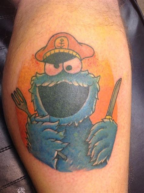 cookie monster tattoo cookie by me alabaster slade tattoos by