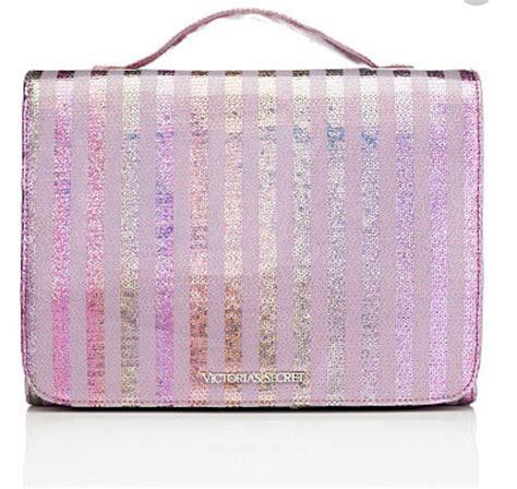 Secret Cosmetic Pouch 0024 s secret glam pink stripe sequin travel makeup bag hanging organizer ebay