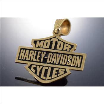 Kaos Harley Davidson Engineyellow 10k 2 4g black enamel harley davidson motor cycles yellow gold pendant property room