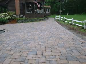 brick driveway and walkway hstead nh labrie property maintenance and landscaping