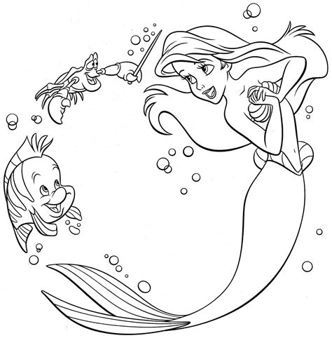 89 Coloring Pages Ariel The Little Mermaid Coloring Coloring Pages Pdf Free