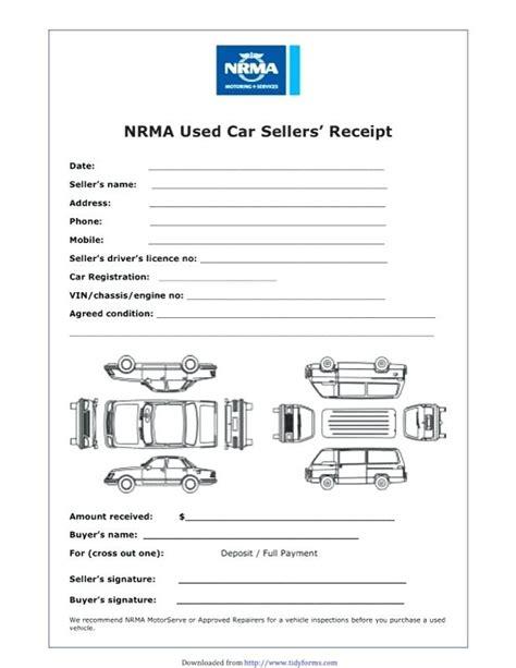 rent receipt template qld car sale receipt template car sale receipt template car